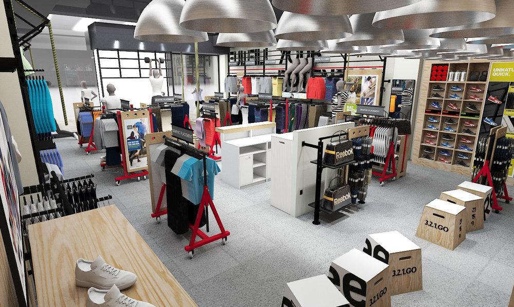 Reebok Store Planning - 3D Concept