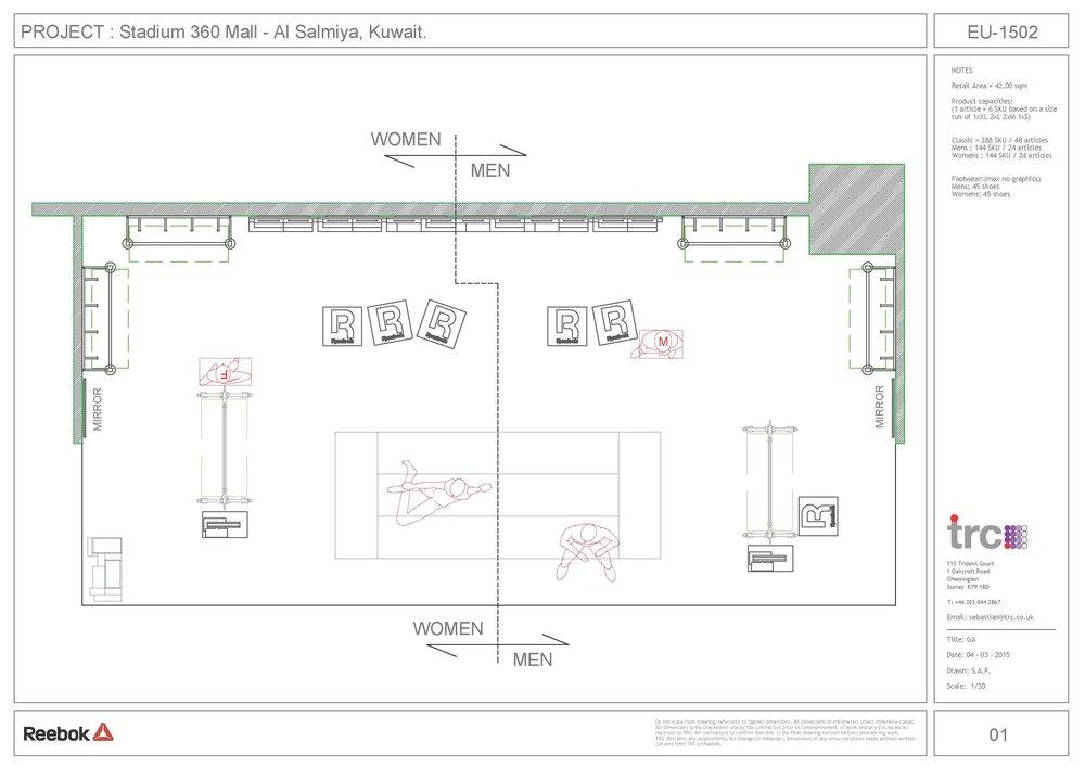Reebok Store Planning - 2D Concept