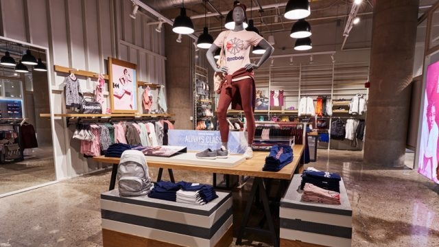 Reebok Dry Dock Store Boston Interior Display