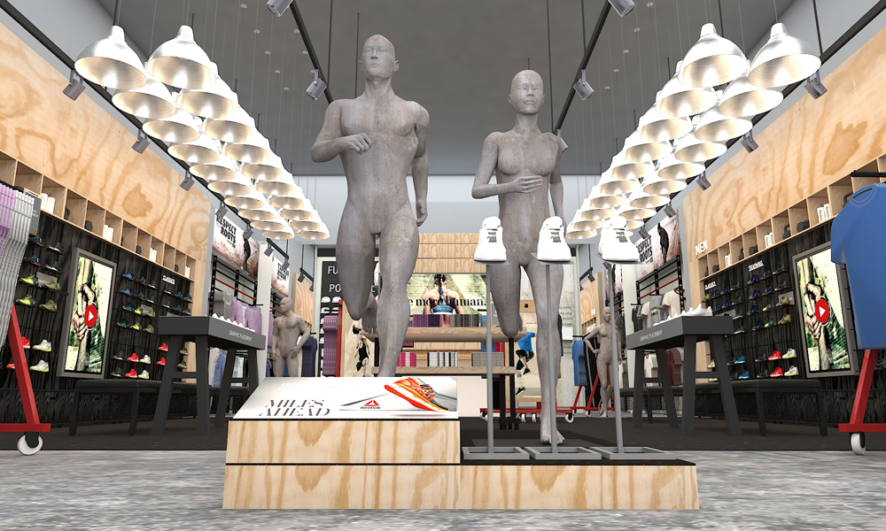 Reebok China Naked Mannequins