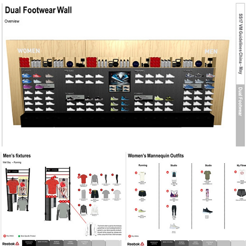 Reebok China Dual Footwear Wall Plan