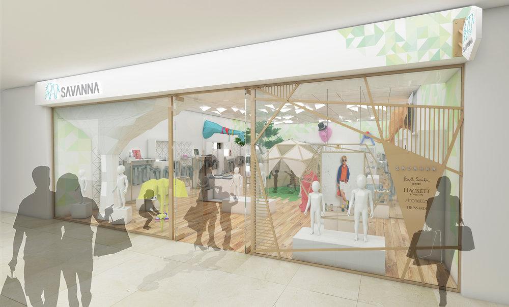Concept Render Facade Savanna Store