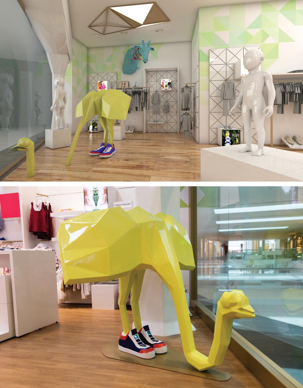 Savanna Store Yellow Ostrich