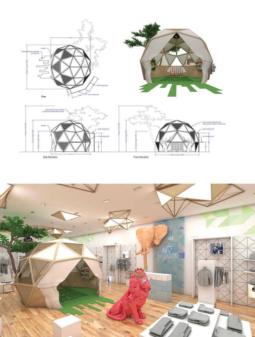 Savanna Store Interior Sketches