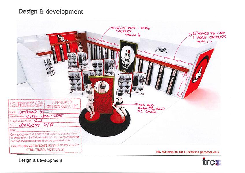 Dita Von Teese Pop Up Design