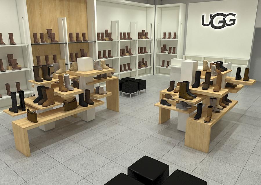 UGG Pop Up Shop Interior Displays