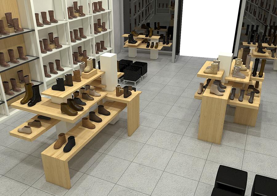 UGG Pop Up Shop Interior Shot