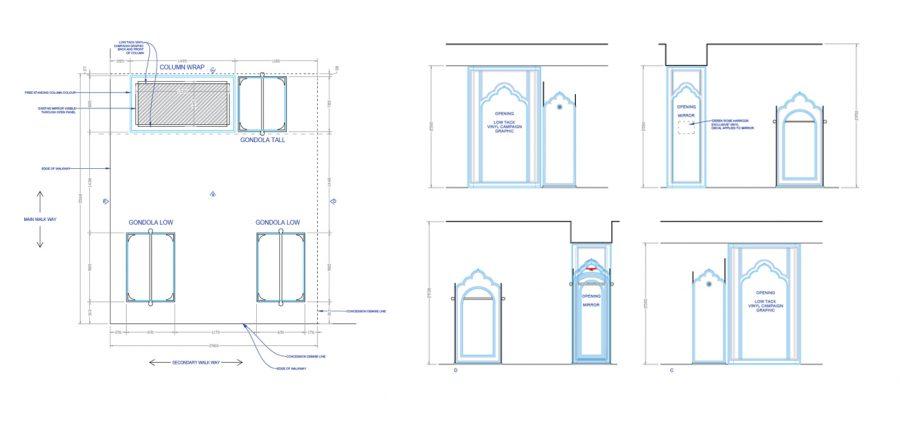 Derek Rose Pop Up Harrods Design 2D Plans