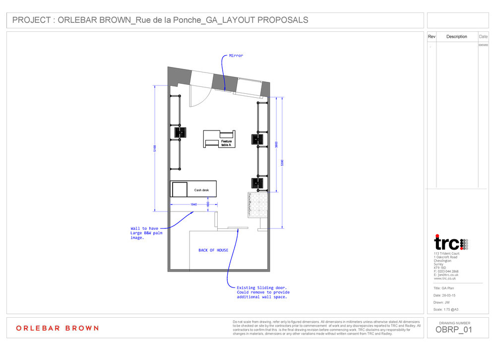 Orlebar Brown St Tropez 2D Plan