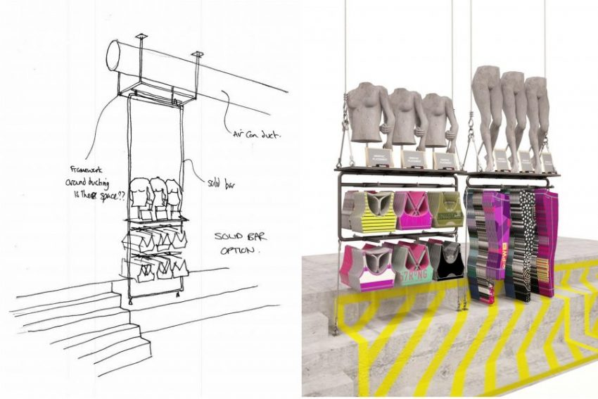 design of Reebok store in Paris