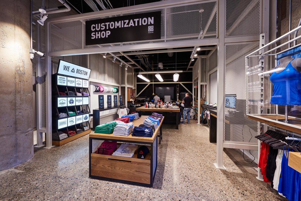 Reebok Dry Dock Store Boston - customisation shop
