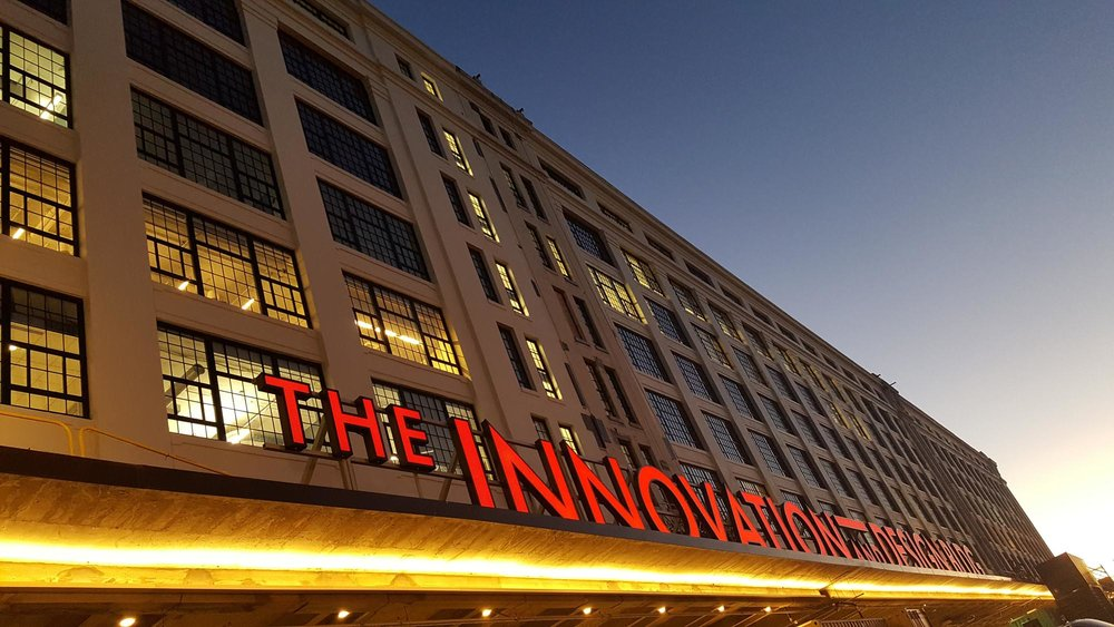 Exterior of the Innovation Building Boston USA