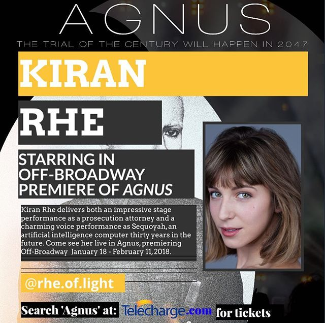 ARTIST SPOTLIGHT • • • Kiran Rhea is an established indie film actor (Where Hearts Lie, Cassanova Was a Woman, C Street, The Mend), and core company member of the interactive performance troupe, Cirque du Nuit- of the You Are So Lucky experiences, featured in Vogue. She is currently studying Improv with the Upright Citizen's Brigade. Kiran was classically trained at the Royal Academy of Dramatic Art and the Shakespeare Theatre Company, and received her degree in Theatre and Dance from Pace University. She hails from D.C., though she's spent much of her life in the U.A.E., Saudi Arabia, and the Virgin Islands. When she isn't performing, she is an activist, traveller, and educator. Follow her at @rhe.of.light and @agnustheplay for updates on the show! Performances now through Feb 11.