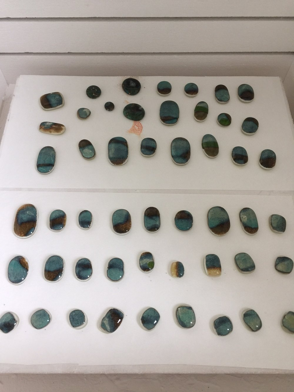 The finished stones are ready to be set into jewelry!