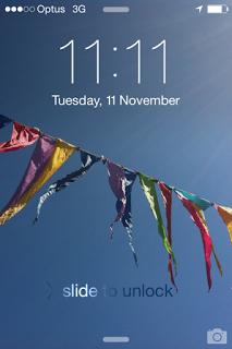 Screenshot of phone at 11.11am on November 11