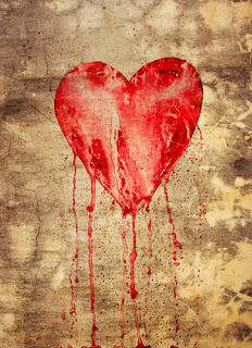 Bleeding broken heart illustration