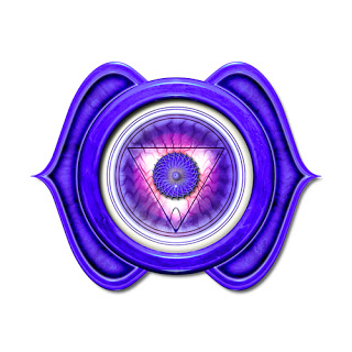 The third eye chakra symbol