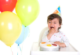 Child crying at birthday party