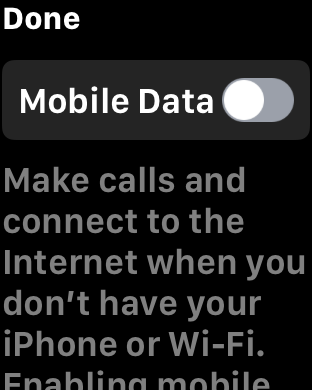 ...turn off Mobile Data