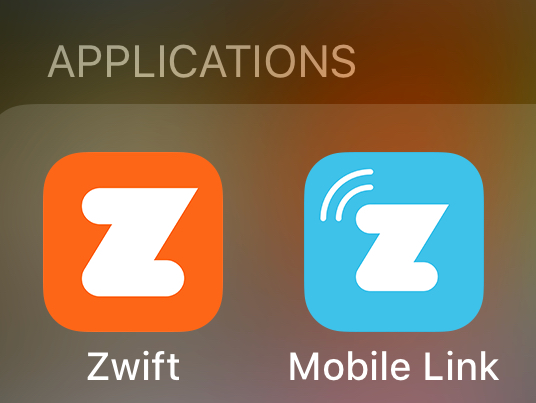 You want the orange Zwift app not the blue one for this scenario