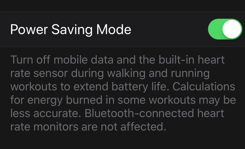 Power saving mode looks good...