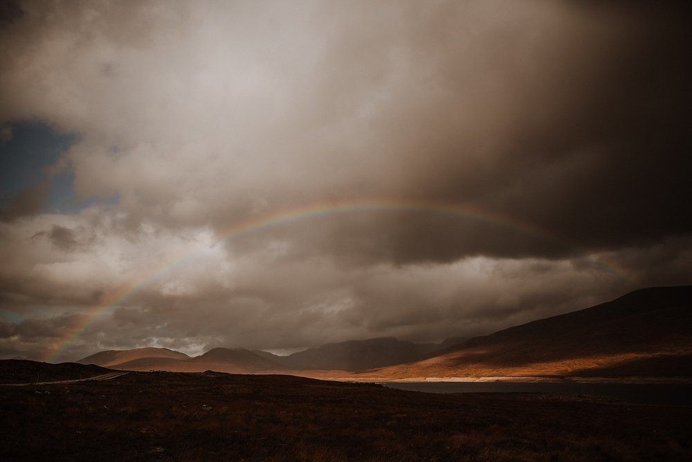 Rainbows in Scotland, me expressing my love of natre.