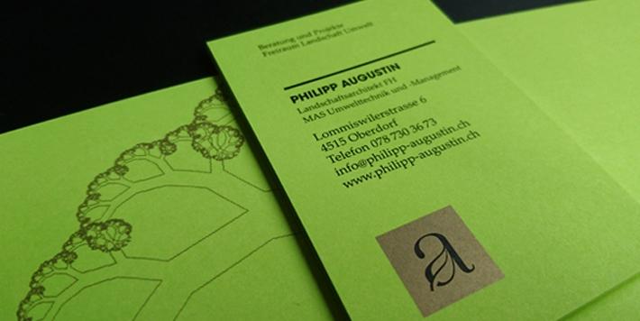 PHILIPP AUGUSTIN - Auftraggeber:Philipp AugustinLogo Design, Korrespondenzdrucksachen:Christian Jaberg, jaberg.design
