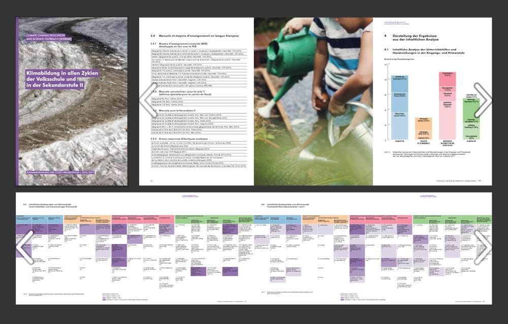 Climate Change Education and Science Outreach (CCESO) - Projektkoordination: Juliette Vogel, GLOBE SchweizBerichtestaltung, Grafik:Christian Jaberg, jaberg.designLektorat:Jaqueline DougoudBericht