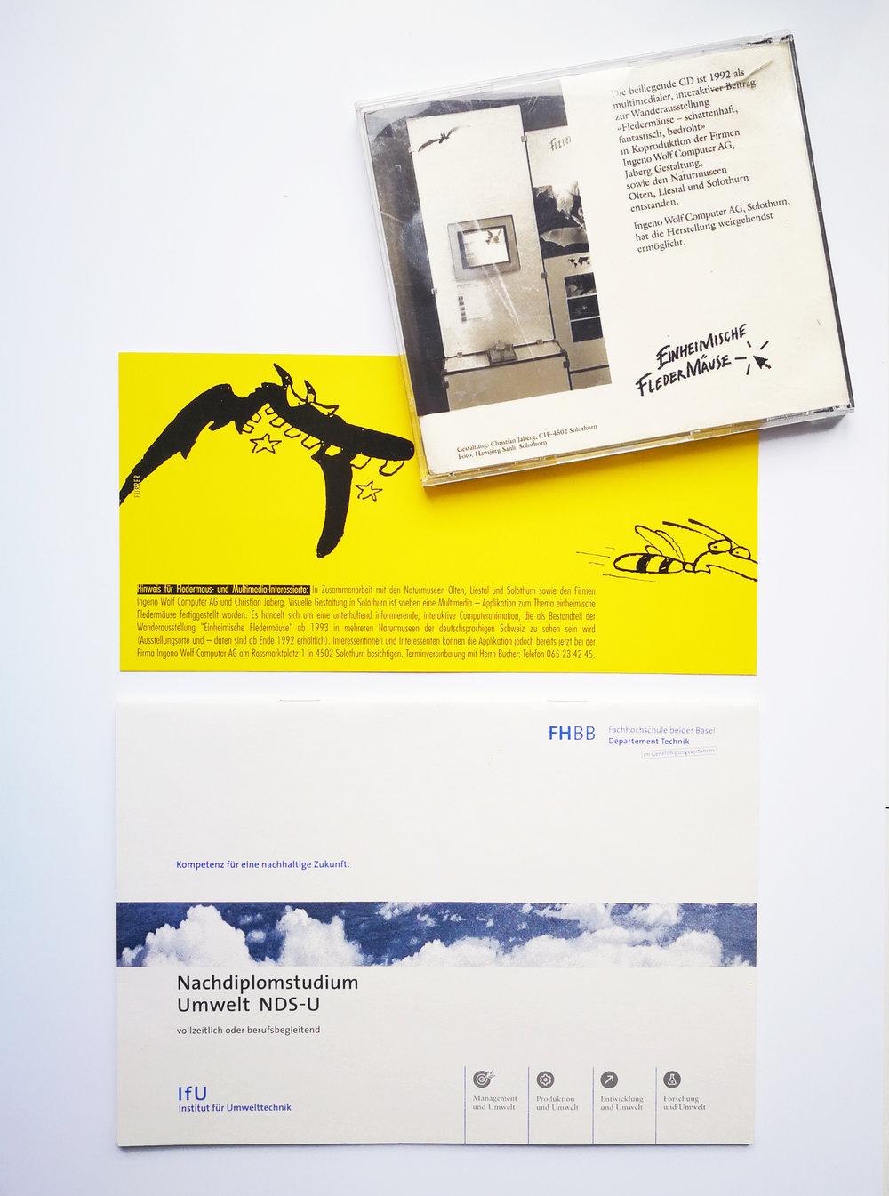Wie es begann… - … mit dem Auftrag zur Gestaltung der Grafiken des ersten Umweltberichts des Kantons Solothurn 1991 für die Werbeagentur IBL. Einheimische Fledermäuse1993 folgte die erste HyperCard-basierte Multimedia-Applikation für die Wanderausstellung Einheimische Fledermäuse in Zusammenarbeit mit Wolf Computer und dem damaligen kantonalen Verantwortlichen Dr. Peter Flückiger.Ein attraktiv eingepackter Apple Macintosh II mit Trackball erlaubte ein Blättern durch die diversen einheimischen Arten.Carbotech, NDS-UAuf der Suche nach einem neuen Büro 1993 mieteten wir (Christian Jaberg und Christa Jeker) eher zufällig mit Dr. Heinz Leuenberger und Dr. Thomas Heim, Carbotech AG, ein Büro an der Gurzelngasse in Solothurn. Damals lancierten die beiden Umweltfachleute das Nachdiplomstudium Umwelt in Muttenz. Wir durften grafisch an diesem und anderen Projekten Gesicht gebend mitarbeiten. DEZA, Info-LinkReisen folgten und 2002 eine neue Bürogemenschaft mit Jürg Bohnenblust, Akteur in den Bereichen Humanitäre Hilfe, Entwicklungszusammenarbeit, Sicherheits-, Migrations-, Menschenrechtspolitik sowie Transition und Friedensförderung im In- und Ausland. Als Konsulent der DEZA beauftragte er uns mit der Gestaltung von mehrsprachigen Broschüren, Infografiken, Präsentationen, Ausstellungen u.a.m. Sustainability und Climate Change waren in der Entwicklungshilfe früh thematisiert.GLOBE Schweiz2004 lernten wir anlässlich des Redesigns des Auftrittes der PH Solothurn Juliette Vogel kennen, die gerade die Leitung von GLOBE Schweiz übernommen hatte. Die Zusammenarbeit begann mit der Gestaltung und Programmierung von Word-Templates für Broschüren und Grafiken. Dann folgten webbasierte Templates und die Gestaltung der Logos u.a. der Umweltbildungsprogramme LERNfeld und PhaenoNet. Die Zusammenarbeit hält bis heute an. Das neue Projekt sind die Storchenforscher*innen, ein Umwelbildungsangebot für die Primarstufe und webbasiert die Sekundarstufe 1.