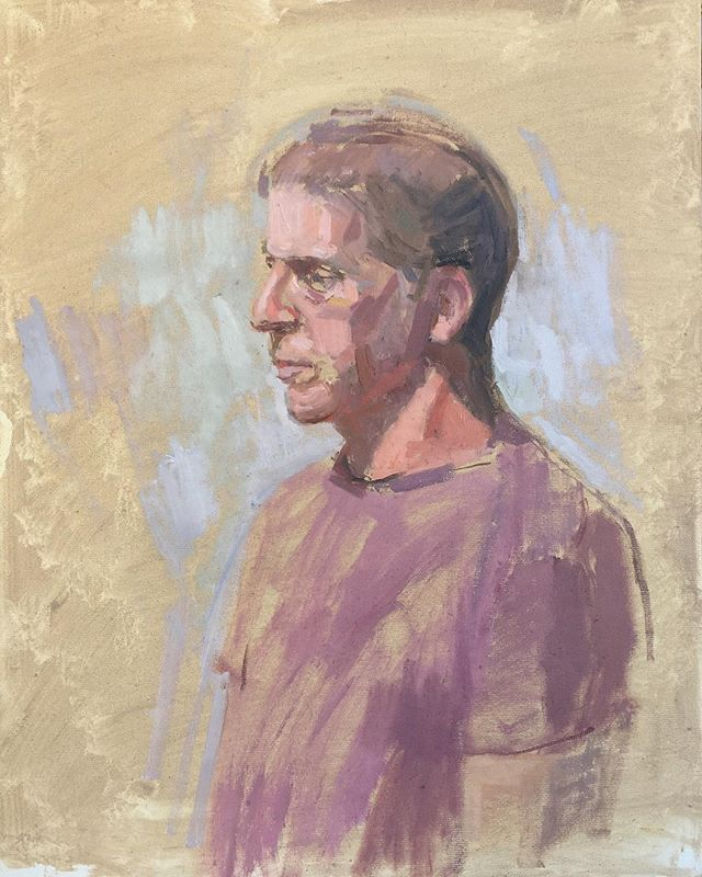 Portrait of Dean Fisher.  Oil on board. @dean.fisher.paintings