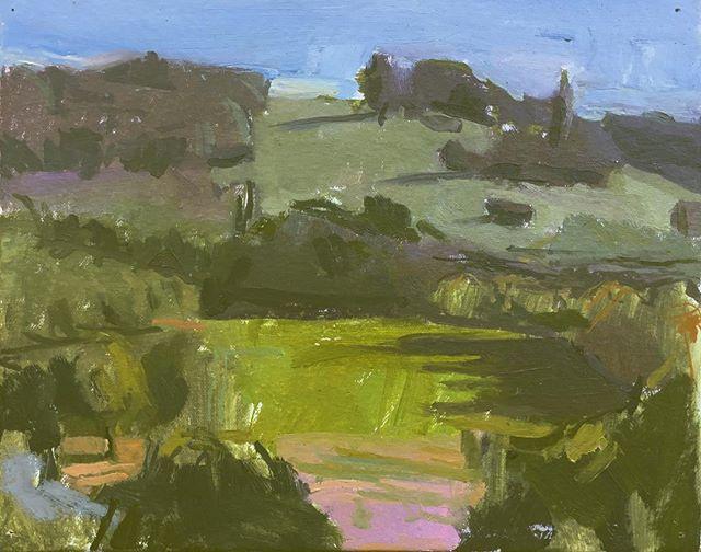 Dordogne landscape.  Oil on canvas.  24cms x 30cms