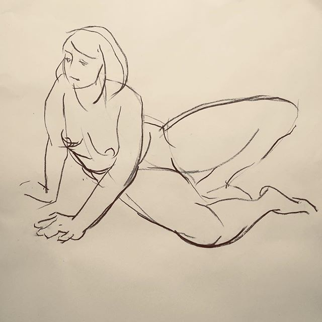 Life drawing influenced by @lukehannampaintings but not as good!