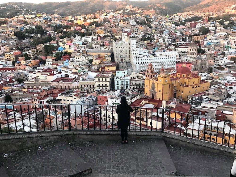 Ree J taking in the city. Guanajuato, Mexico.