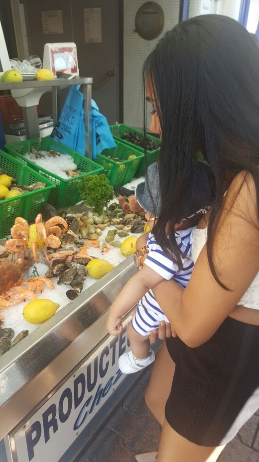 Seafood in Sete, France