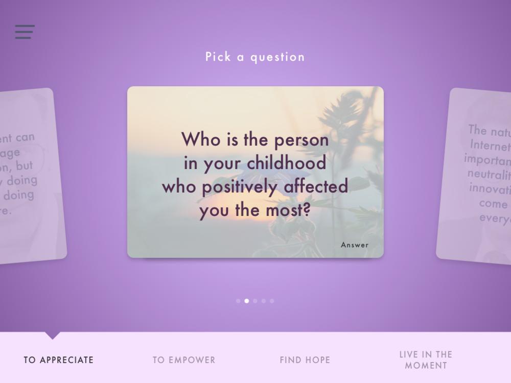 1st Version - Question Card