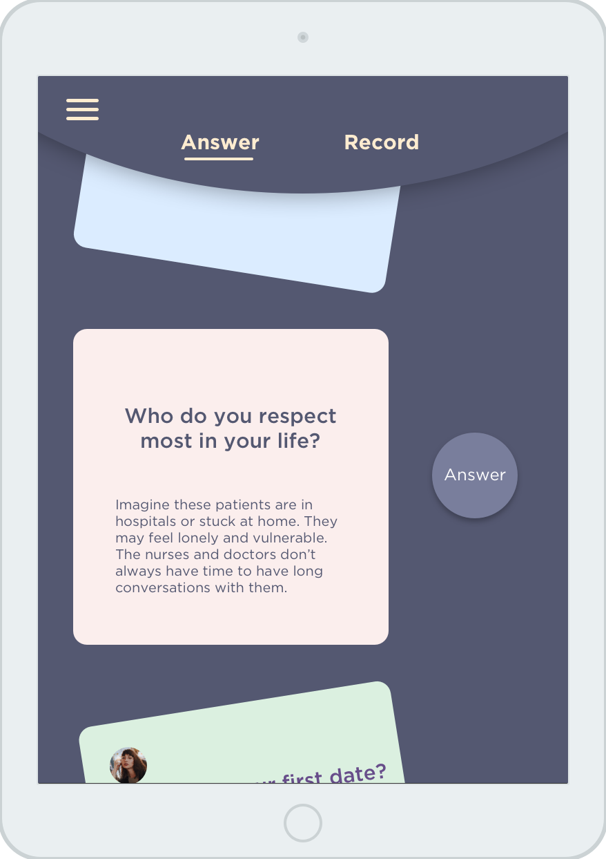 Question Card Page