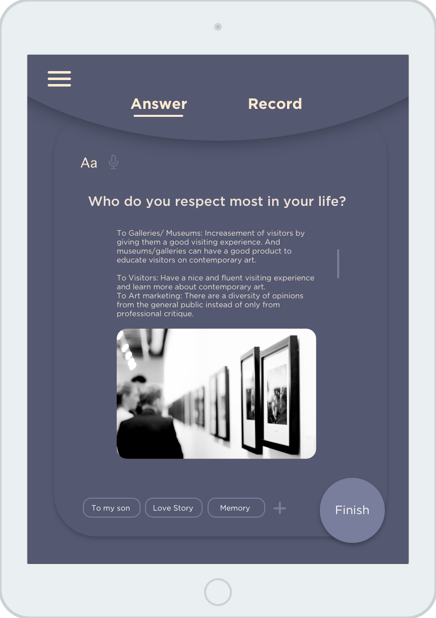 Write Answer Page