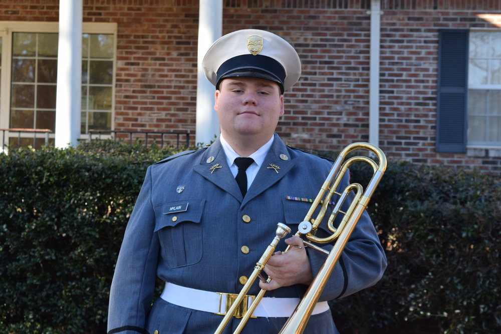Cadet McLain has been selected for the 28th Annual Auburn University Symphonic Honor Band  2018-12-11