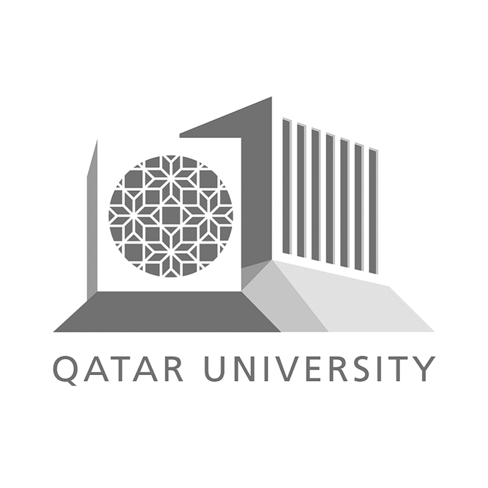 qatar university logo black and white.png