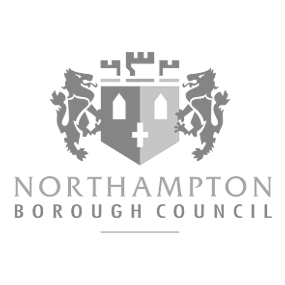 northampton borough council black and white.png
