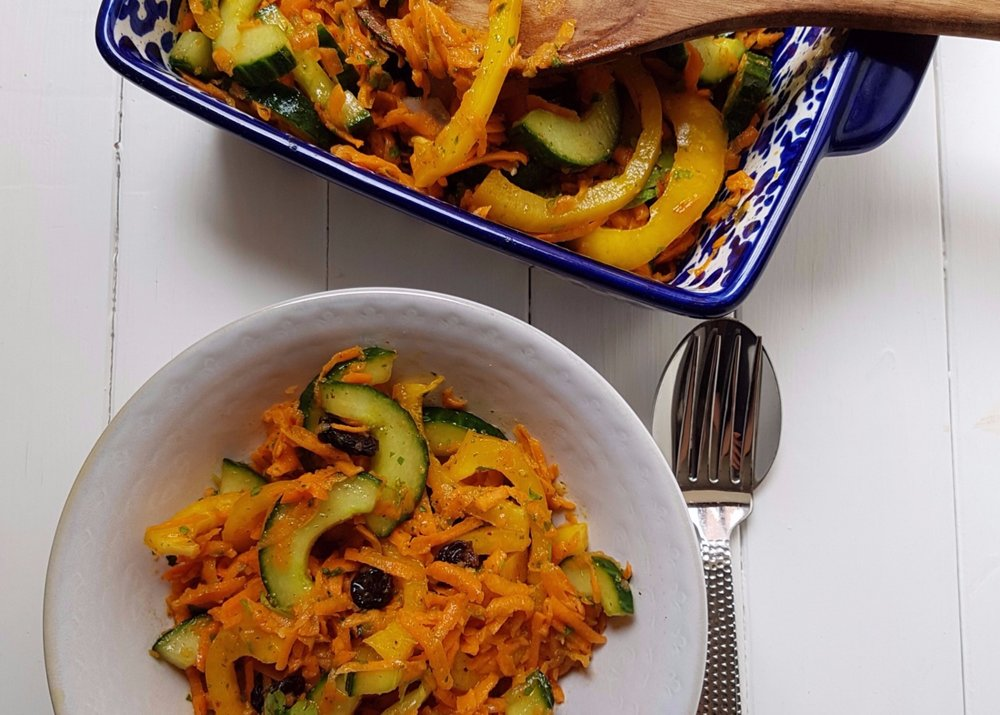 cinnamon and preserved lemon spiced salad North African flavours