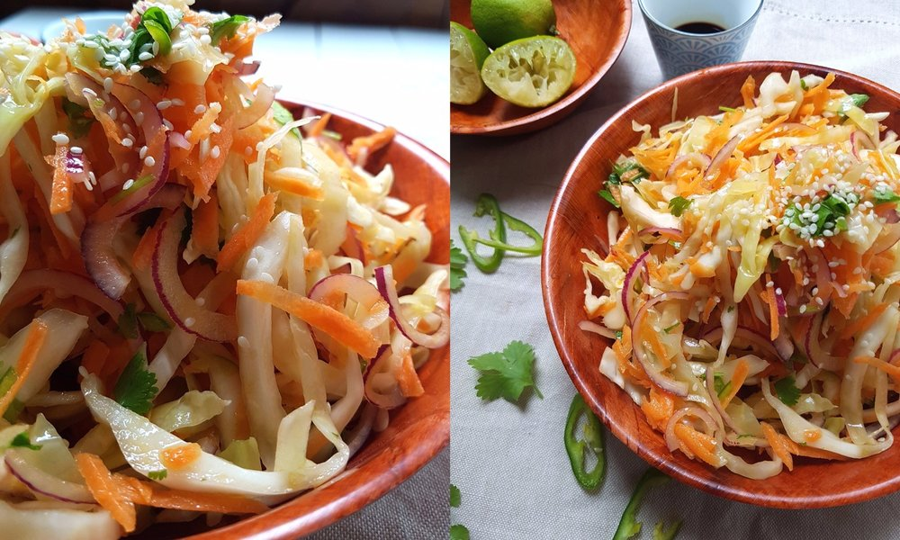 green chilli and lime slaw no mayo
