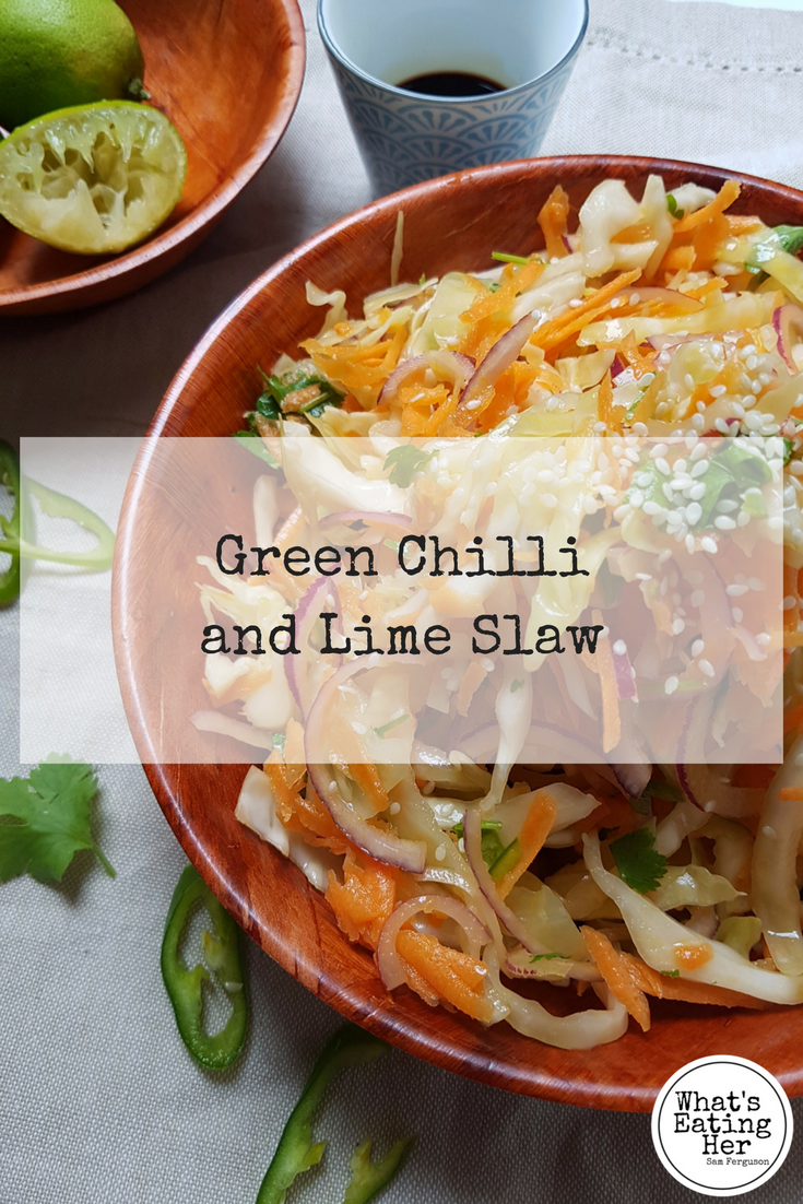 how to make green chilli and lime slaw