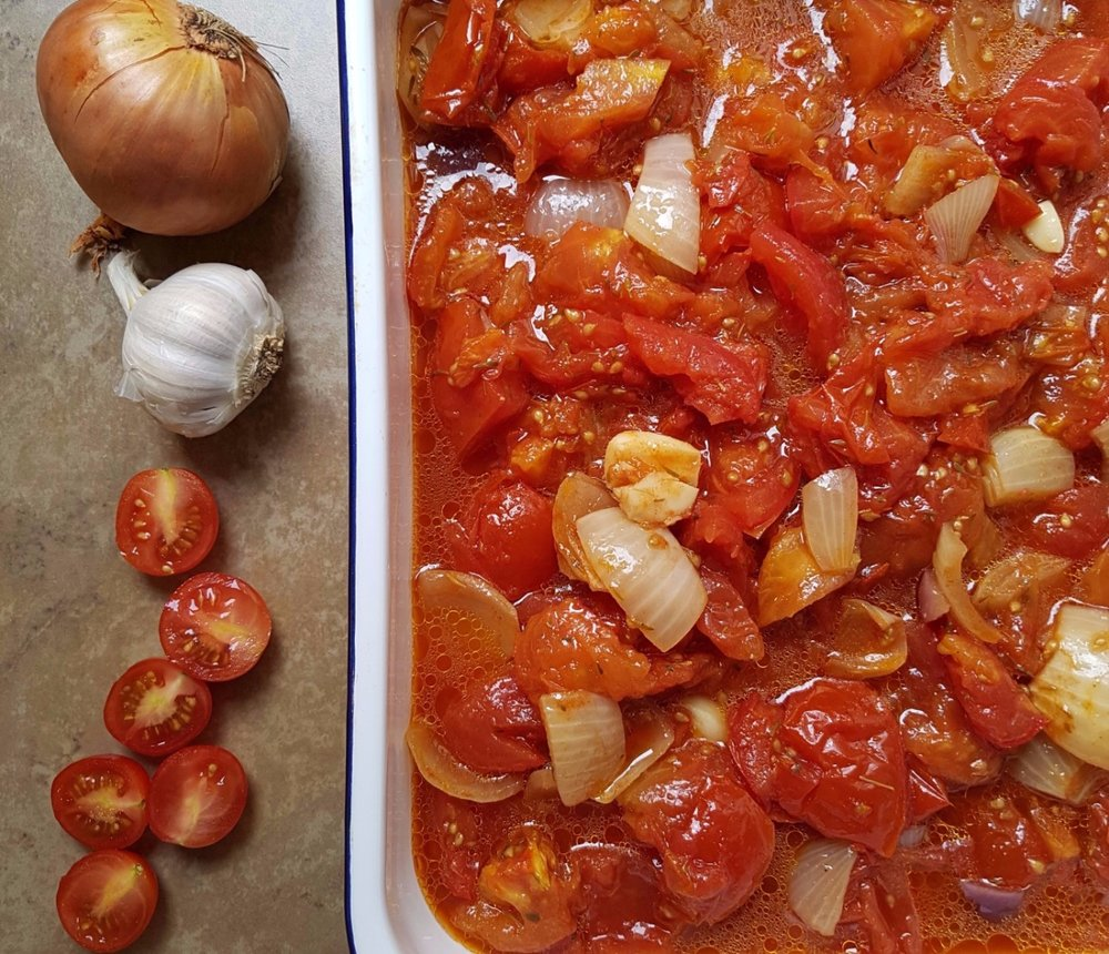 roasted tomato and garlic sauce