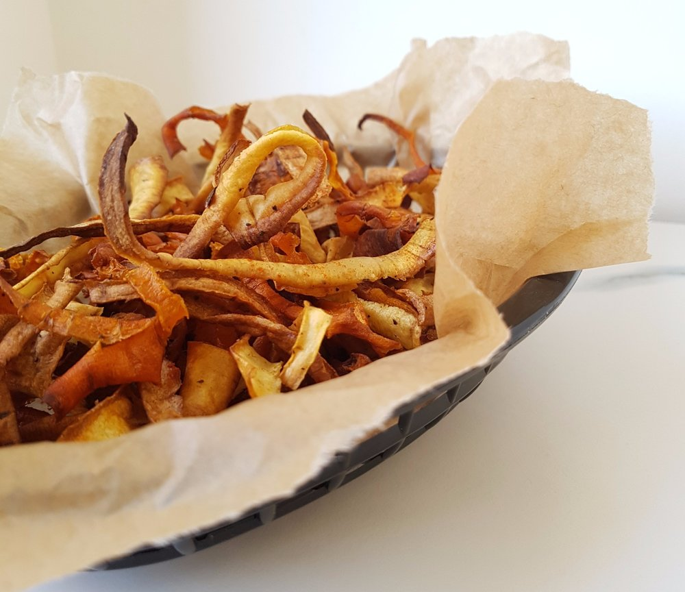 less waste carrot and parsnip crisps