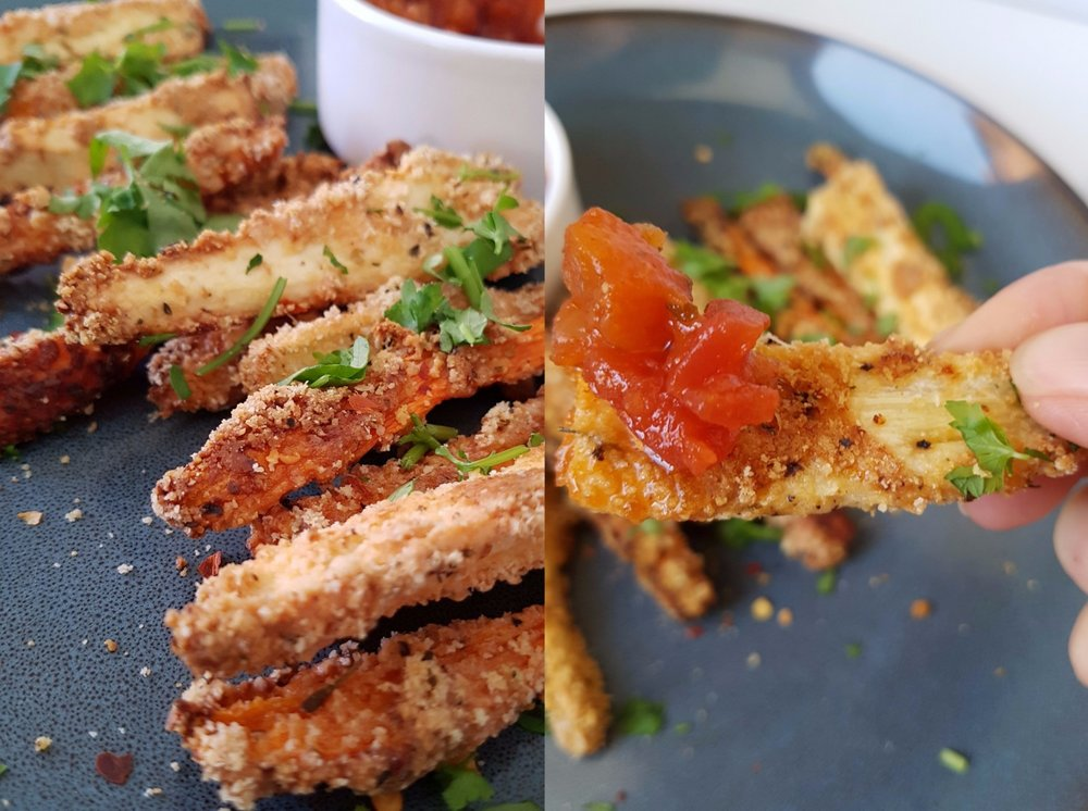 close up of veggie fries
