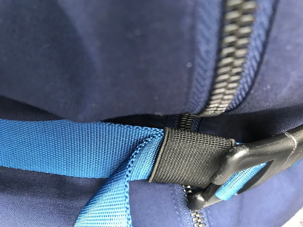 Worn with blue Rapha backpack