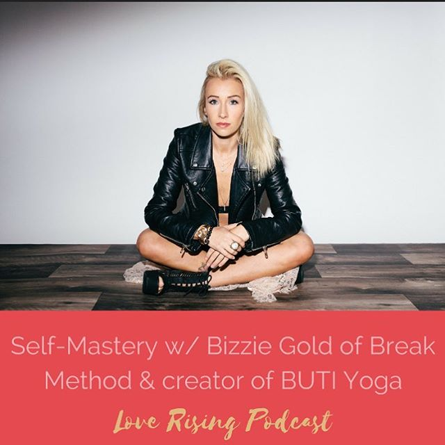 You guys... This Love Rising Podcast w/ @bizziegold BLEW my mind. I learned so much just in the interview. Bizzie, @kyleeseifert_kaifit & I talked about what it means to master yourself & really start to go after what you really want.  This is practical, in the trenches, useful stuff so if you feel like you're a self-sabotager & not a self-master listen to this. It'll be so good!  Bizzie is a serial entrepreneur who is the creator of @butiyoga & @breakmethod and others.  We were so lucky & grateful to have had her wisdom & power on the podcast. Thank you 🙏🏼 Don't forget to subscribe on iTunes & leave us those 5-star reviews. ❤️❤️🤩