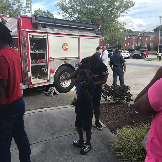 Fun with the fire trucks! #highachieversec #conyers #privateschool