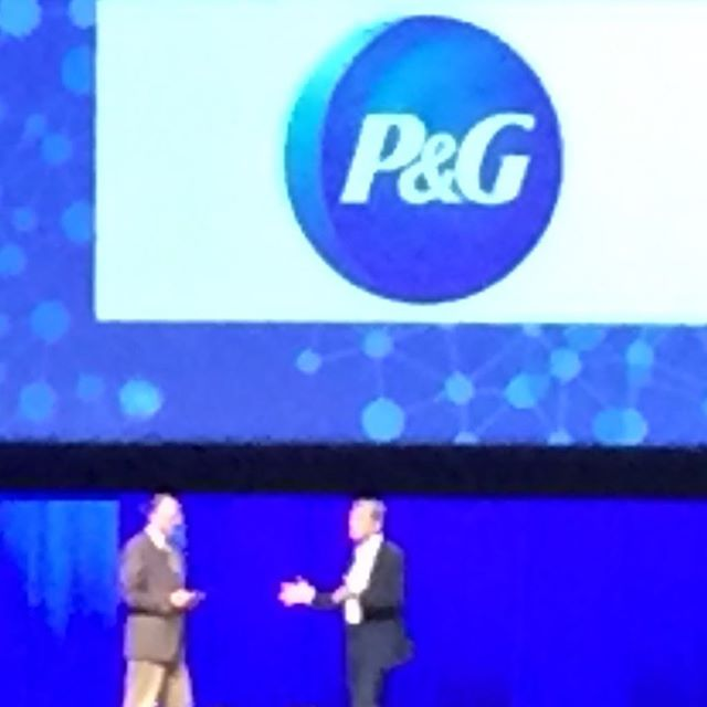 At the ANA Masters of Mktg Conf.  Kudos to Mark Pritchard of P&G #transformmarketing #advertisingasaforceforgood...